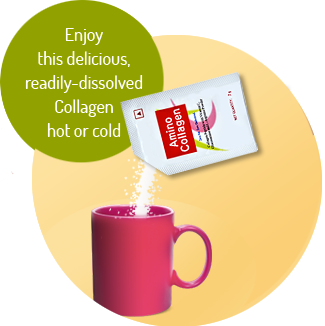 Amino Collagen With cup of Tea